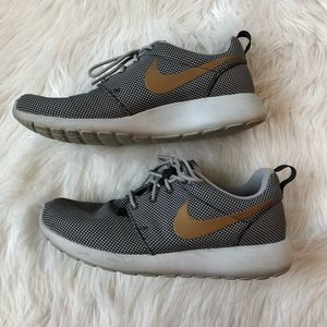 Grey & Gold Nike Roshes